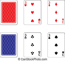 Playing card set 10 - Vector. Playing card set 10