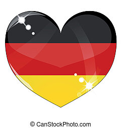 Vector heart with Germany flag texture