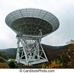 Radio Telescope Effelsberg - With a diameter of 100 meters,...