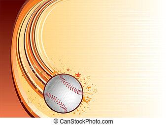 baseball sport background - vector background of baseball...