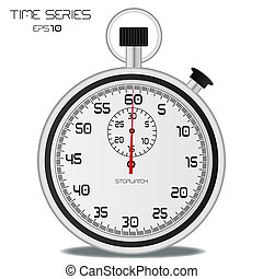 Image of a stopwatch isolated on a white background.
