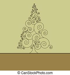 Retro christmas card Template. EPS