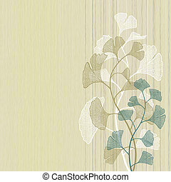 Ginkgo background - Vector background with the ginkgo...