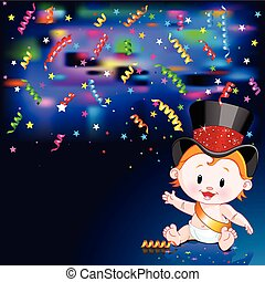 New Year Baby card - Celebrations Illustration of New Year...