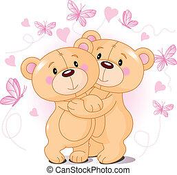 pelúcia, Ursos, Amor