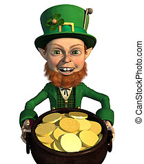 Lucky Leprechaun - A leprechaun finds a pot of gold - hes...