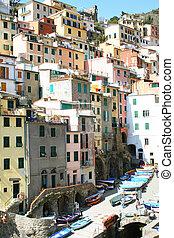 Italy. Cinque Terre.Riomaggiore village - Italy. Cinque...