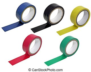 5 rolls of coloured sticky tape