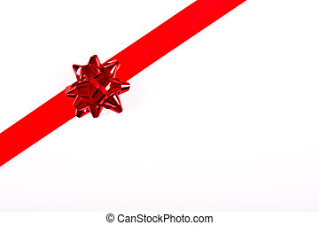 Christmas Red Ribbon Border