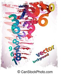 Abstract Colorful Background with n