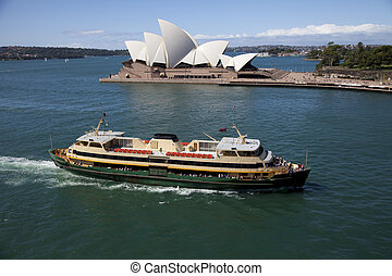 Picture Perfect - Ferry crossing the Sydney Harbour with...