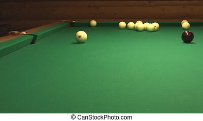 Billiard. - Cue ball is not potted.