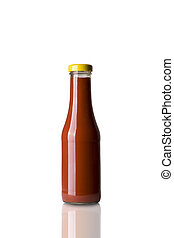 Ketchup Bottle - Fresh Ketchup Bottle Isolated on White...