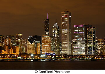 View to Downtown Chicago / USA from Adler Planetarium