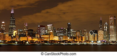 View to Downtown Chicago USA from Adler Planetarium