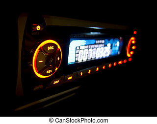 car audio player,shallow DOF - A shallow depth of field of...