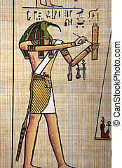 Underworld - Antique egyptian papyrus and hieroglyph