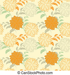 vector seamless  floral  background.