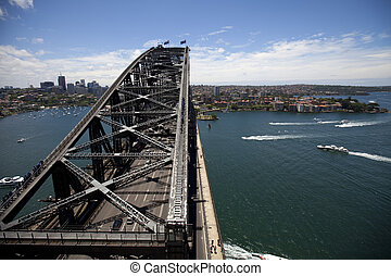 Over  the water - View of the Sydney Harbour Bridge