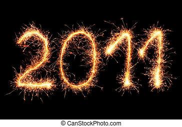 2011 made of sparkler
