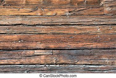 Rustic wooden board - A rustic wooden board seen in...
