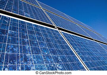 Closeup of a solar panel