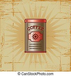 Retro Coffee Can