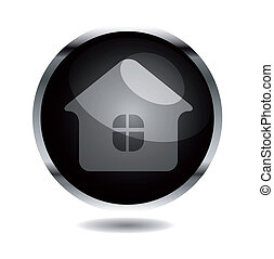 Vector design element.Glossy button
