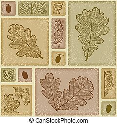 Seamless oak pattern