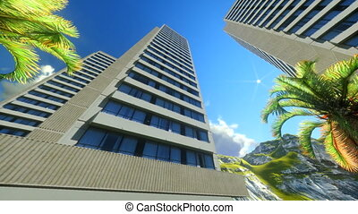 Modern Office blocks in Honolulu