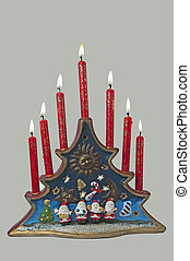 Christmas decoration with candlelights