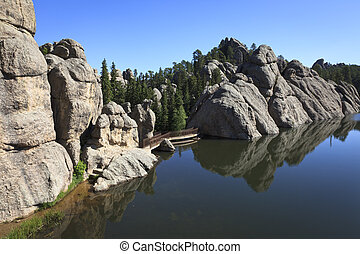 Sylvan Lake, Custer State Park, Black Hills of South Dakota,...