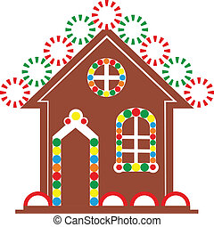 Gingerbread house color  - Vector. Gingerbread house color