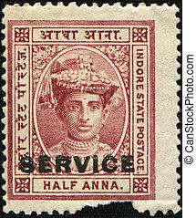 HH Maharanidhiraja Rani Rajeshwar S - INDIA - CIRCA 1889: A...