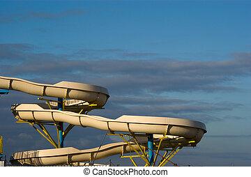 water slide,  sliding track on the sky
