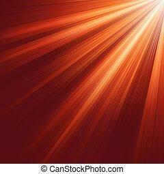 Red luminous rays. EPS 8