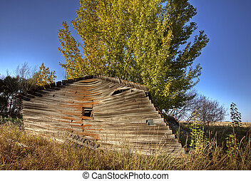 Old Rustic Granary storage Saskatchewan Canada