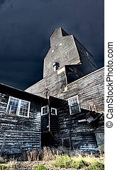 Old Grain Elevator wooden landmark Saskatchewan Canada