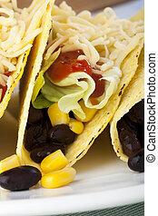 Close Up Vegetarian Tacos