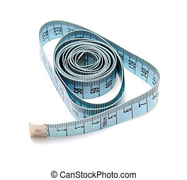 Tapeline - Measure tape tapeline isolated on white...