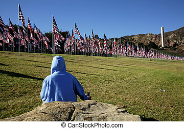 Honor 9-11 - flags for all 3000 plus victims of 9-11 on the...