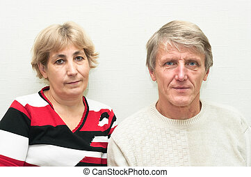 Portrait of senior couple. Two old people