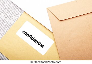 confidential or top secret letter showing business post...