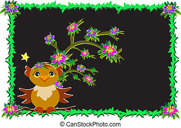 Frame of Night Owl - Here is cute Night Owl next to a...