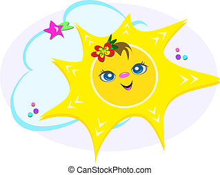 Happy Sun and Clouds