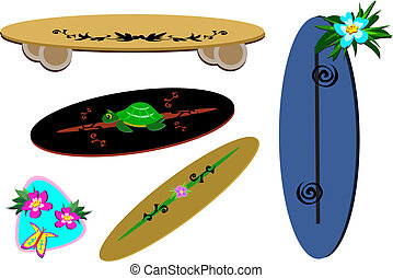 Mix of Tropical Sport Boards