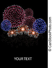 Firework - Vector illustration of firework