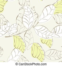 Seamless wallpaper with leaves