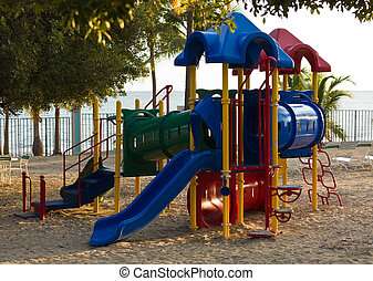 Children's playset on beach