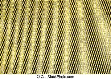 Metal grille texture background in yellow color